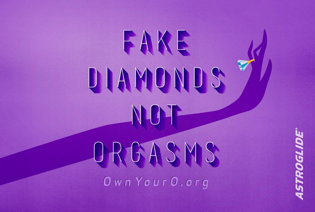 Fake Diamonds Not Orgasms artwork